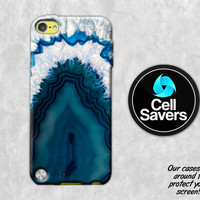 Blue Agate iPod 5 Case iPod 6 Case iPod 5th Generation iPod 6th Generation Rubber Case Gen Turquoise Crystal Rock Geode Tumblr Inspired