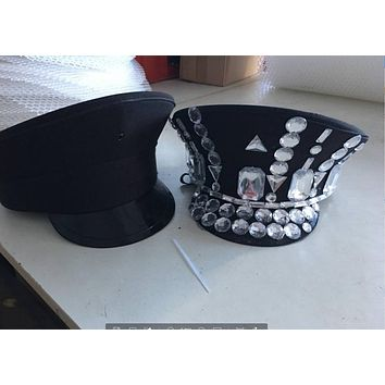 DIY Costume Black Military Hat