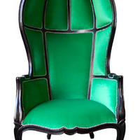 Jimmie Martin Green Porter Balloon Chair