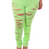 Plus Size High Waist Slashed Lime Green, Plus Size Clothing, Club Wear, Dresses, Tops, Sexy Trendy Plus Size Women Clothes