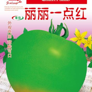1 pack 1000pcs Green Apple Tomato Seeds, Green tomato seeds,Not Hollow Not Cracked Fruit Sugar Moderate Free Shipping