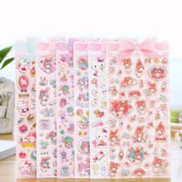 Cute Cartoon Hello Kitty Melody Twinstar Decorative Sticker Diary Album Label Sticker DIY Scrapbooking Stationery Stickers