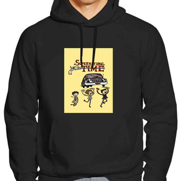 supernatural time adventure time style 8a53fb20-b880-4438-8d09-22842a3835ba For Man Hoodie and Woman Hoodie S / M / L / XL / 2XL *NP*
