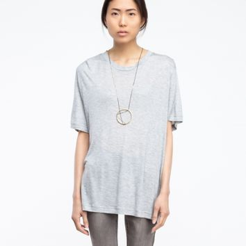 Cheap Monday Big Tee in Grey Melange