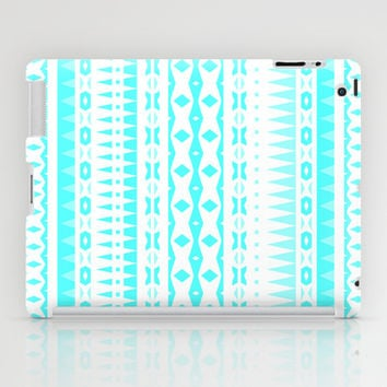 Blue Aztec iPad Case by Ornaart