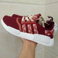 Best Online Sale Louis Vuitton LV  x Adidas NMD R1 Red S75237 Boost Fashion Trending Sport Running Shoes Casual Shoes Sneakers