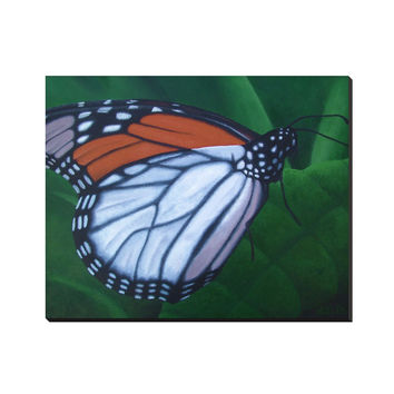 Monarch - Wrapped Canvas of Butterfly Acrylic Paint Fine Art