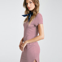 Stripe T-Shirt Dress With Shirttail Hem | Wet Seal