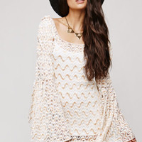 Saltwater Gypsy Vintage Sheer Lace Bell Sleeve Dress at PacSun.com