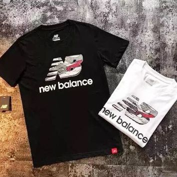 New Balance New fashion letter print couple top t-shirt