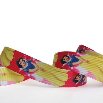 "Disney Princess Prom Dress Grosgrain Ribbon/1""(25 mm) width /DIY Hair Bow / Head band / Craft Supplies"
