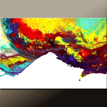 Abstract Canvas Art Painting 36x24 Original Contemporary Modern Wall Art Paintings by Destiny Womack - dWo - Beyond the Rainbow