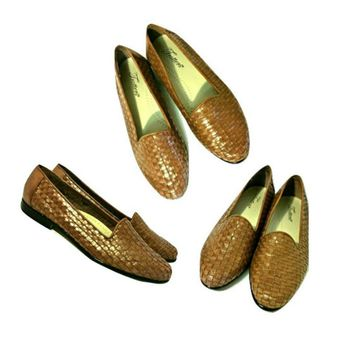 Women's Shoes, loafers, flats, women's flats, leather shoes, bohemian, hippie, brown shoes, trotters