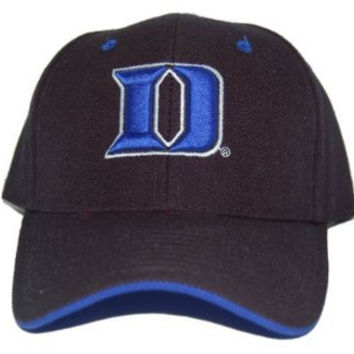 New Duke Blue Devils Fitted College Hat, Black, 7