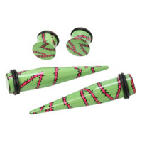 Acrylic Zombie Stitches Taper & Plug 4 Pack