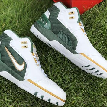 [Free Shipping ]Nike Air Zoom Generation SVSM QS Lebron James St Vincent Mary AO2367-100 Running Sneaker