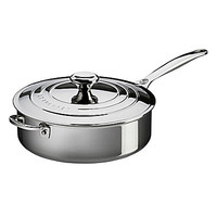 Le Creuset Stainless Steel 4.5-Quart Saute Pan with Lid and Helper Han