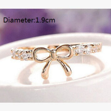 Korean Style Simple Fashion Bow Index Finger Rings for Women XH04052