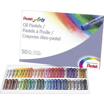 Pentel Arts Oil Pastels, 50 Color Set (PHN-50)