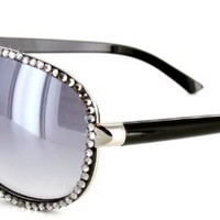 Hollywood Heights Designer-Inspired Aviator Sunglasses with Dozens of Genuine Swarovski Crystals For Stylish, Sexy Women:Amazon:Shoes