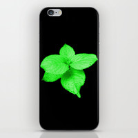 Glow In The Dark Leaves iPhone & iPod Skin by Moonshine Paradise