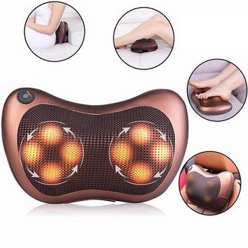 Car Chair Relax Device Home Electric Massage Pillow Full Body Massager Cushion Neck Back Electronic Shiatsu Relax Health Care