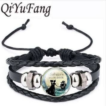 Qiyufang Silver Color Chain Jewelry Peter Pan bracelet bangle Neverland Statement bracelet bangle Choker bracelet bangle Women