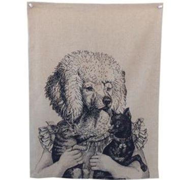 Ms. Poodle Tea Towel