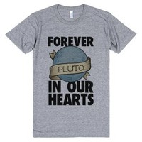 Pluto: Forever in our Hearts-Unisex Athletic Grey T-Shirt