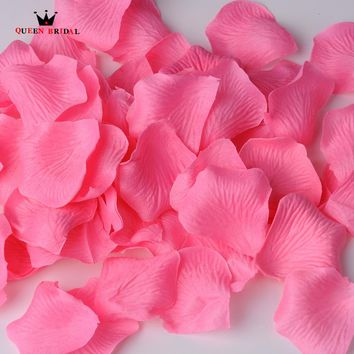 QUEEN BRIDAL 500Pcs/Lot Rose Petals Mariage Wedding Decoration Flowers Petalas Petalos de Rosa Silk Rose Petal Many Colors NO1