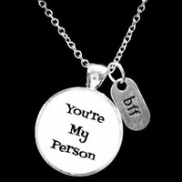 You're My Person Valentine Gift Best Friend BFF Sister Friendship Necklace
