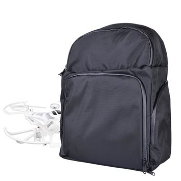 Drone Water Resistant Nylon Backpack Bag (Black) - Fits up to 12 Quadcopter Drones