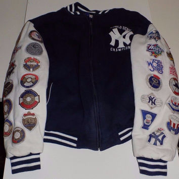 New York Yankees 26 Time World Series Championship Jacket Coat Large