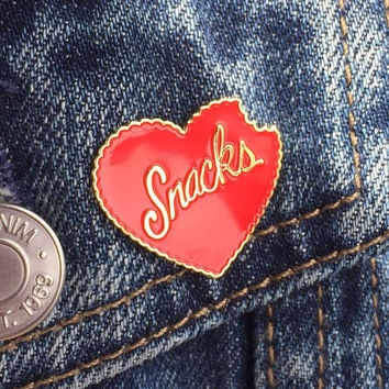 Heart Snacks Enamel Pin