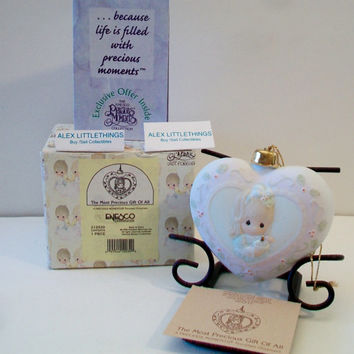 Precious Moments The Most Precious Gift Of All Christmas Ornament 1996