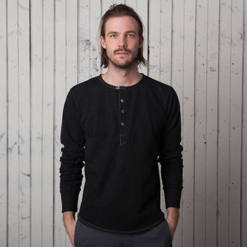 The Harlem Henley   Black French Terry