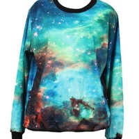 W&Hstore Galaxy Space Painting Thin Sweater Sweatshirt Good Quality (19)