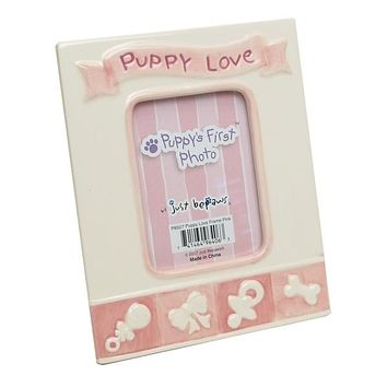 Pink Puppy's First Photo Frame