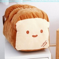 "Small Ver. Dual Face Bread Plush Cushion Pillow 10"" Decoration Good Gift for Every Special Day"