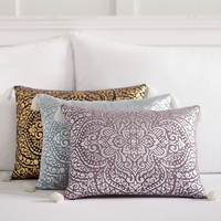 Metallic Medallion Pillow Covers