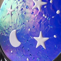 Starry Nights Glass Art *free shipping* from C & J Designs