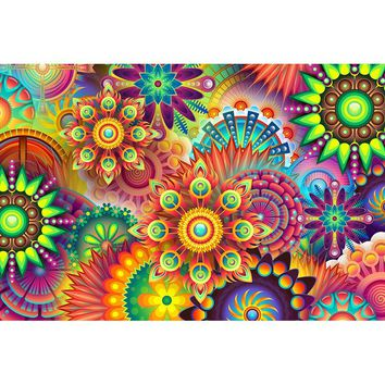5D Diamond Painting Abstract Flower Shapes Kit
