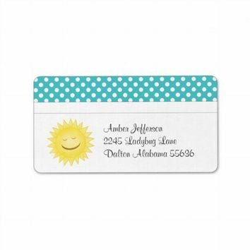 Polka Dot and Sunshine Address Labels from Zazzle.com