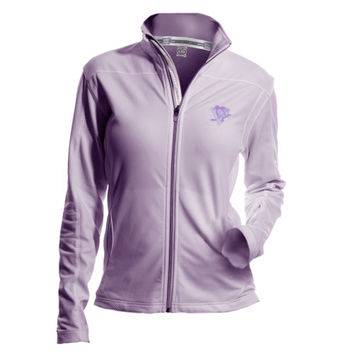 Pittsburgh Penguins Womens Hockey Fights Cancer Aurora Full Zip Jacket - Purple