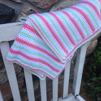 Strawberry Mint Baby Blanket
