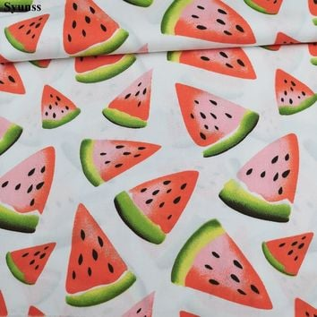 Syunss Watermelon Printed Cotton Fabric For DIY Tissu Patchwork Telas Sewing Baby Toy Dress Bedding Quilting The Cloth Craft