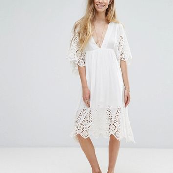 Ganni Yoko Lace Dress at asos.com
