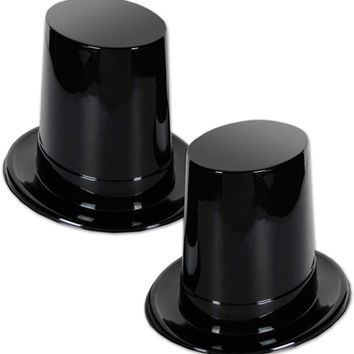 Black Plastic Super High Topper - CASE OF 24