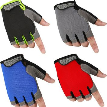 1 Pair Of Fitness Half Finger Gloves Outdoor Multifunction Sports Gloves Exercise Training Weightlifting Bodybuilding Gym Gloves
