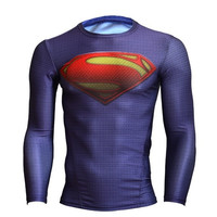 Men's fashion cartoon hero Superman T-shirt = 1946293828